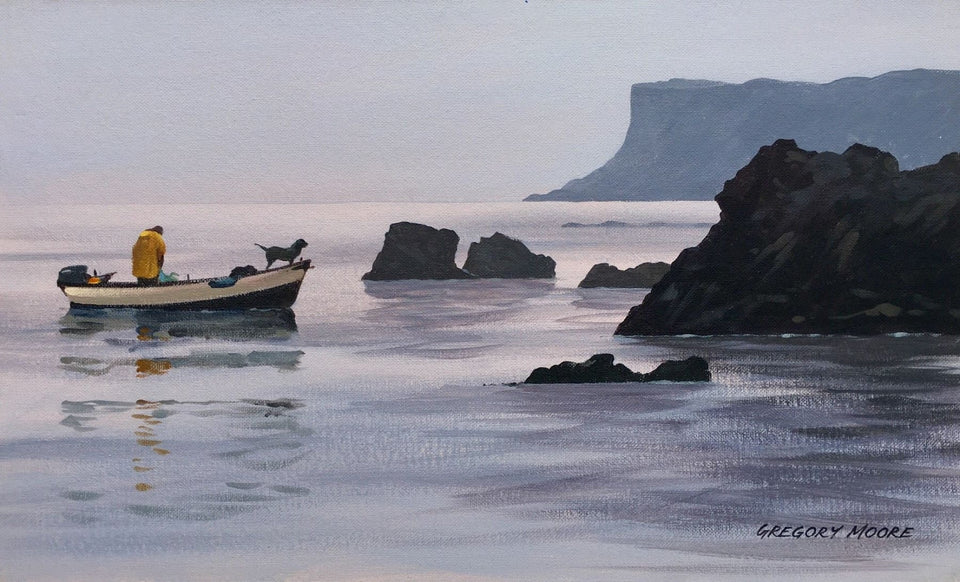 Early Morning Ballycastle Co.antrim Original Artwork