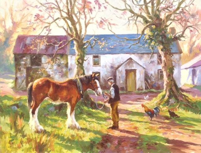 Early Morning On The Farm Original Artwork