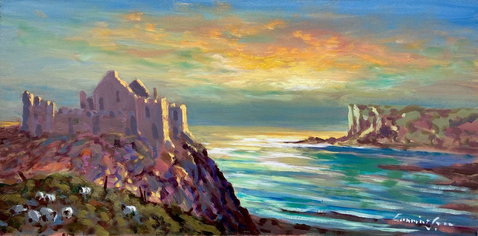 Early Morning Sunrise Dunluce Castle Co.antrim Original Artwork