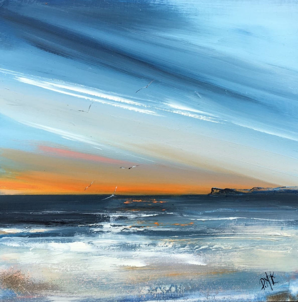 Early Morning Sunrise Fairhead Ballycastle Co.antrim Original Artwork