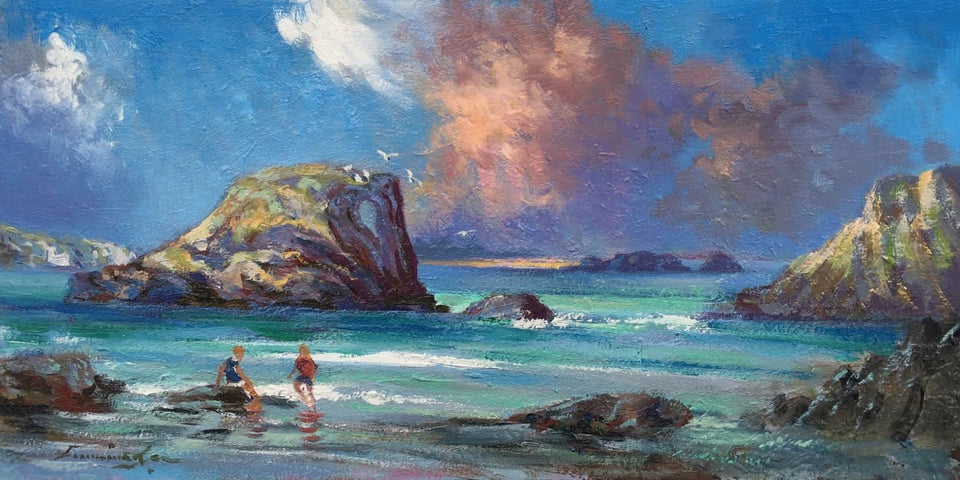 Elephants Rock Ballintoy Co.antrim Original Artwork