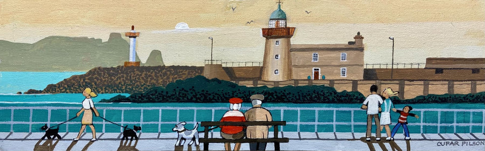 Evening Light At Howth Harbour Co.dublin Original Artwork