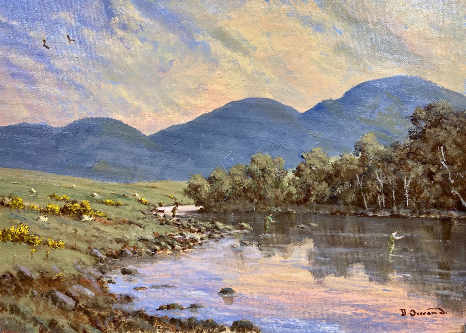 Evening On The Lackagh River Co.donegal. Original Artwork