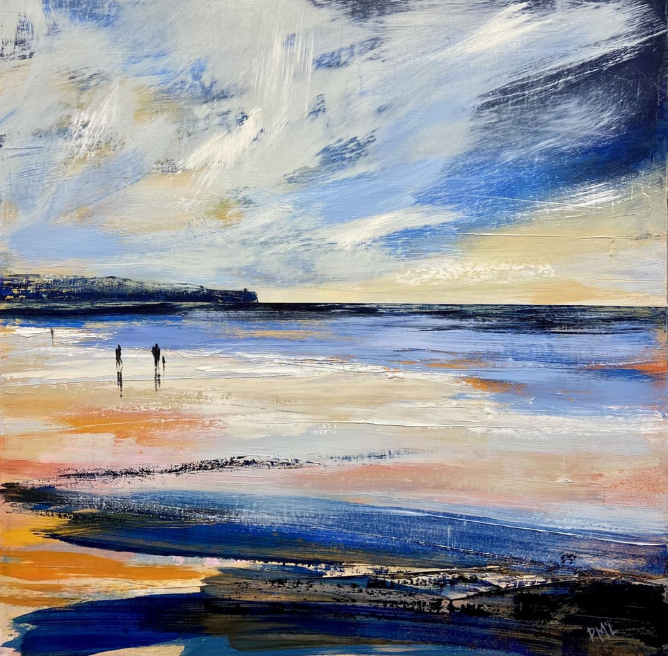 Evening Stroll Portstewart Strand Original Artwork