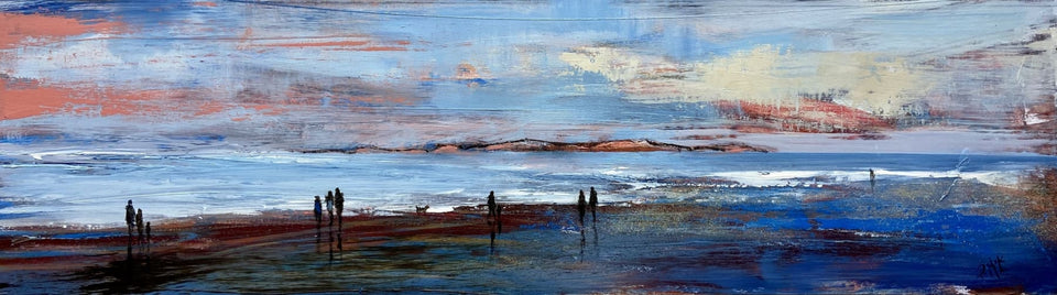 Evening Stroll Skerries Portrush Co.antrim Original Artwork