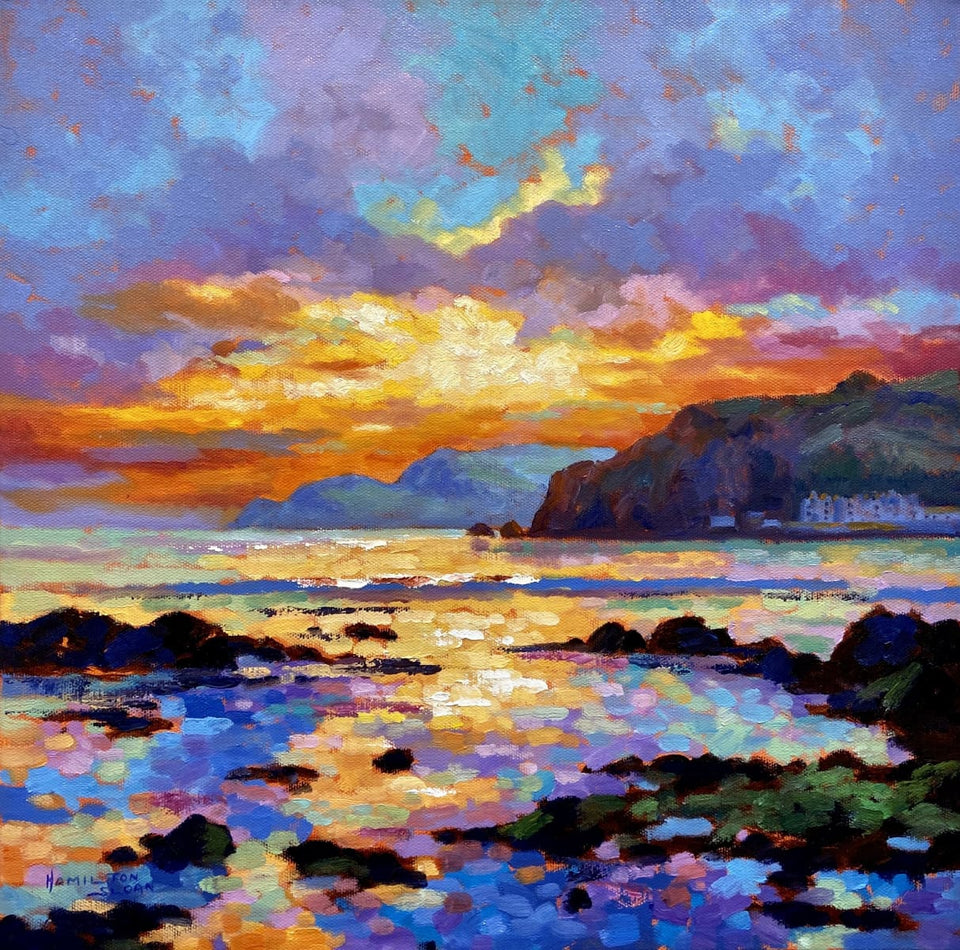 Evening Sunset Cushendun Bay Co.antrim Original Artwork