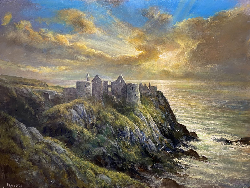 Evening Sunset Dunluce Castle Portrush Co.antrim Original Artwork