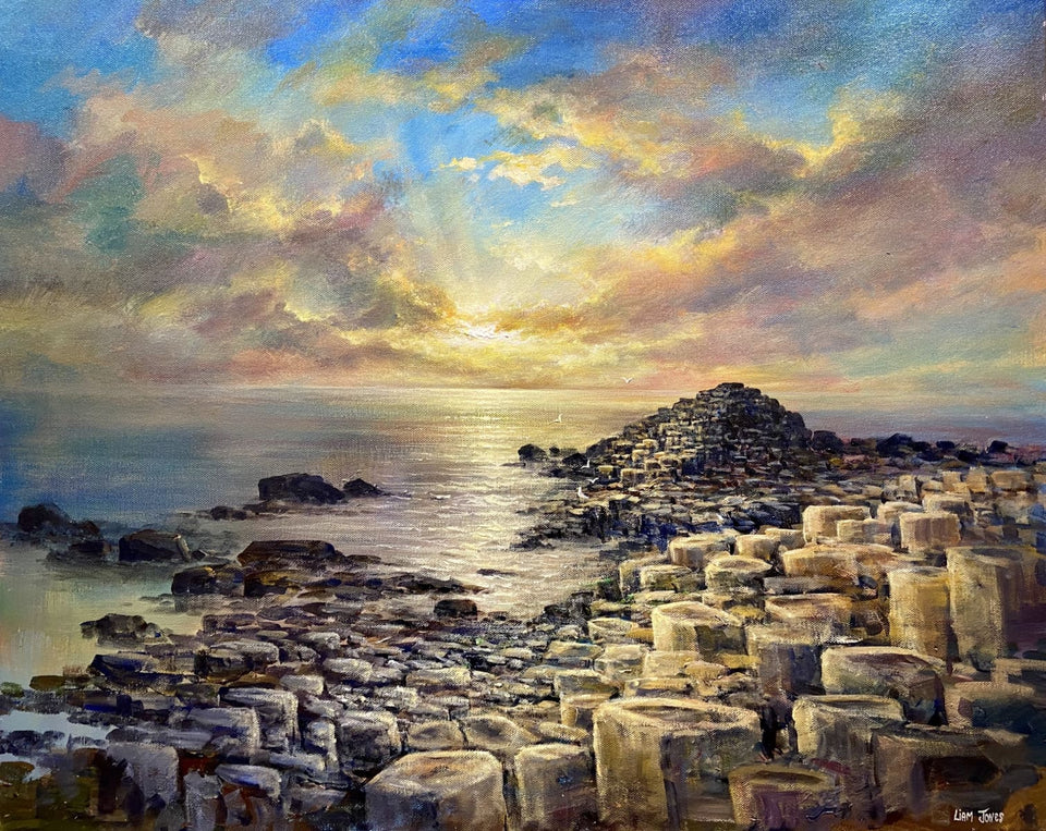 Evening Sunset Giants Causeway Co.antrim Original Artwork