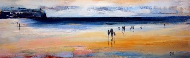 Evening Sunset Portstewart Original Artwork