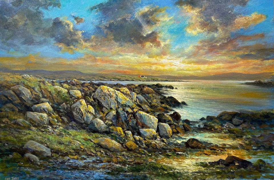 Evening Sunset West Of Ireland Original Artwork