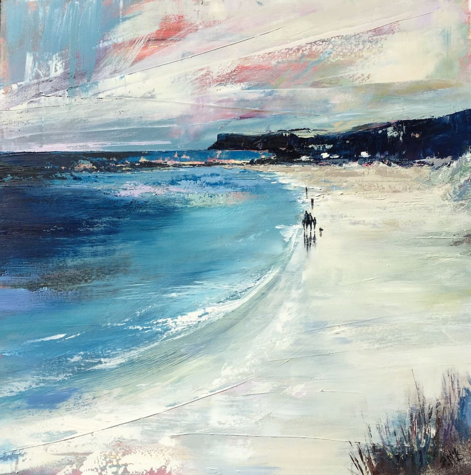 Family Beach Stroll Ballycastle Co.antrim Original Artwork