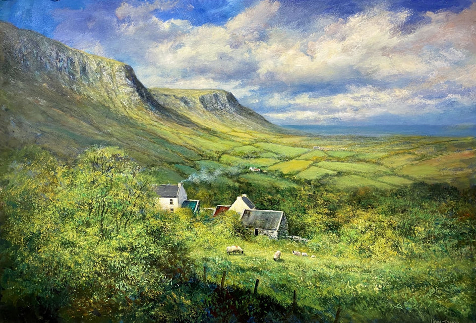 Farmstead In The Glen Glenarriffe Co.antrim Original Artwork