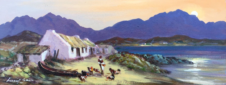 Farmstead Near Inch Strand Co.kerry Original Artwork