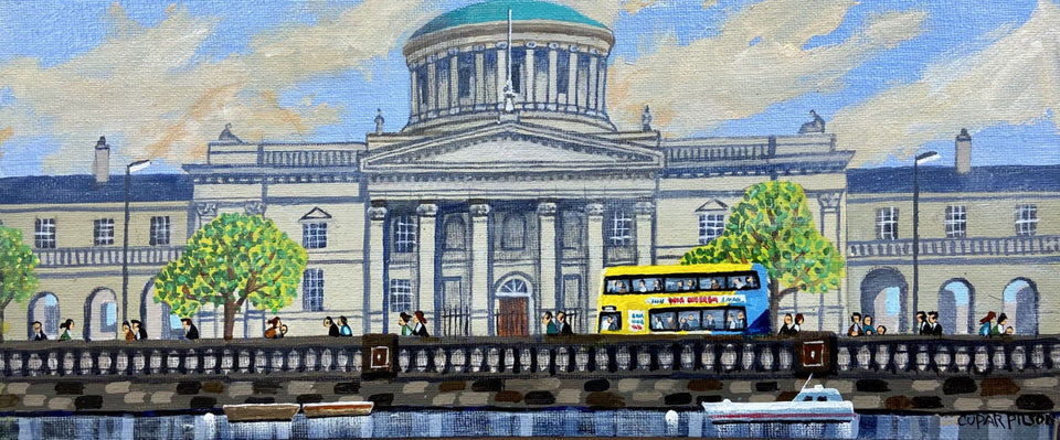 Four Courts Dublin Original Artwork