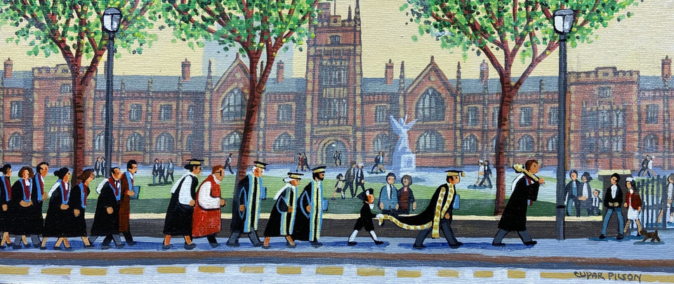 Graduation Day Queens University Belfast Original Artwork