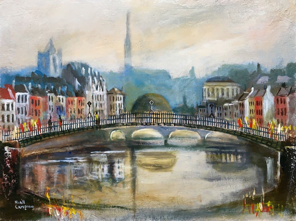 Halfpenny Bridge Dublin Original Artwork