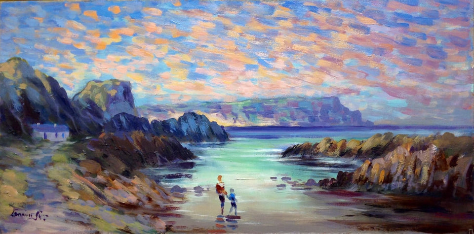 Heading To The Waters Edge Ballintoy Co.antrim Original Artwork