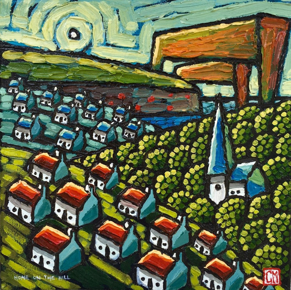 Home On The Hills Belfast Original Artwork