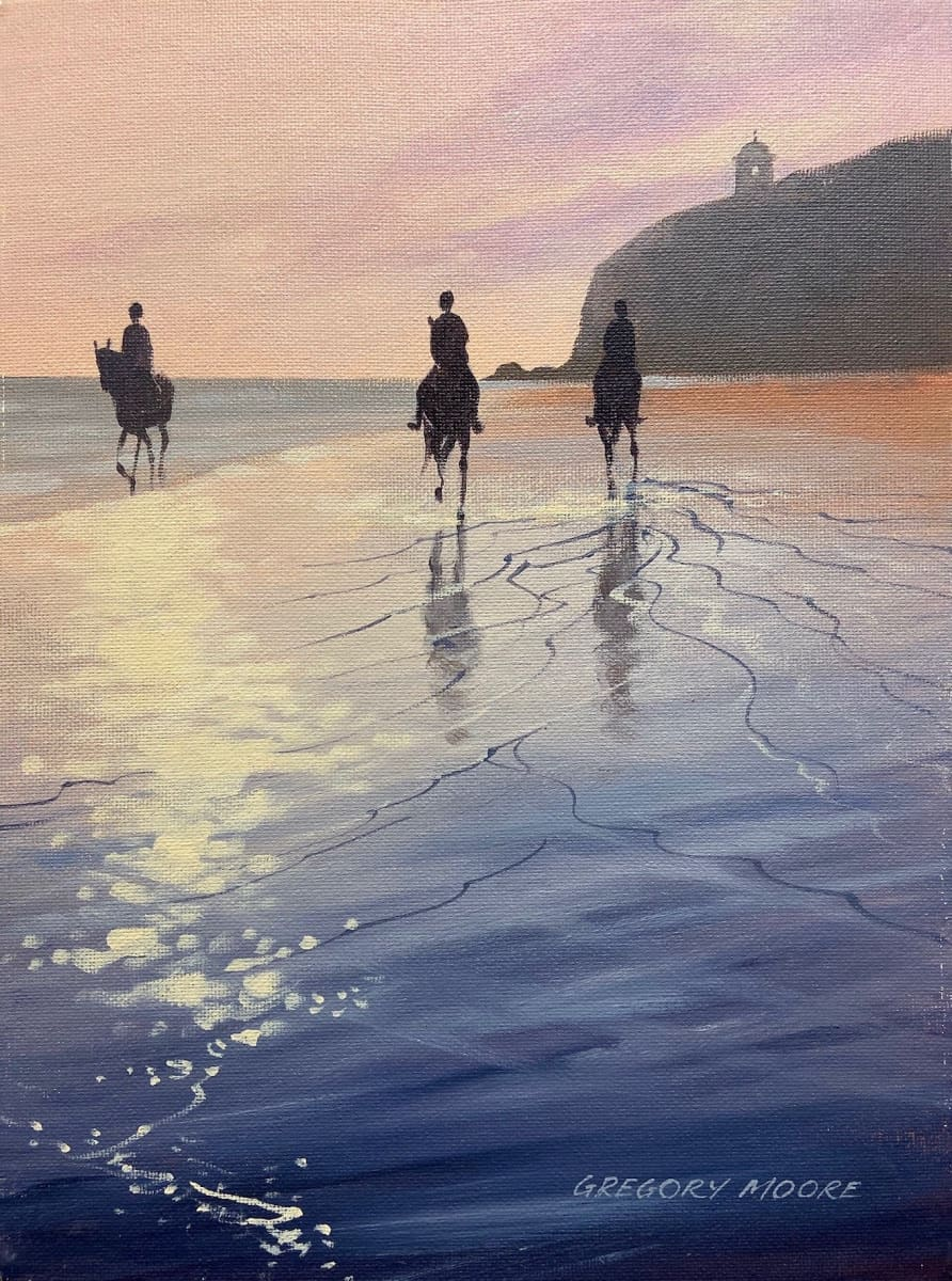 Horse Riding At Downhill Original Artwork