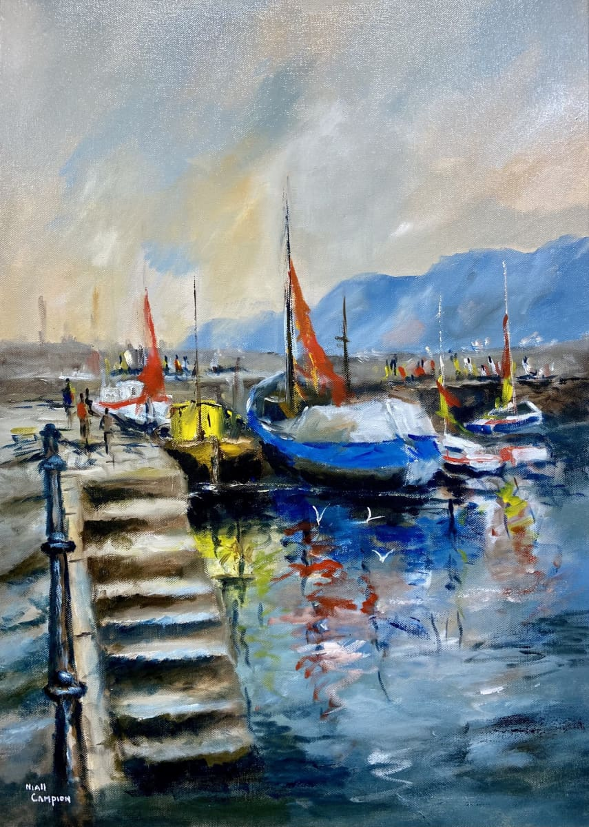 Howth Harbour Co. Dublin Original Artwork