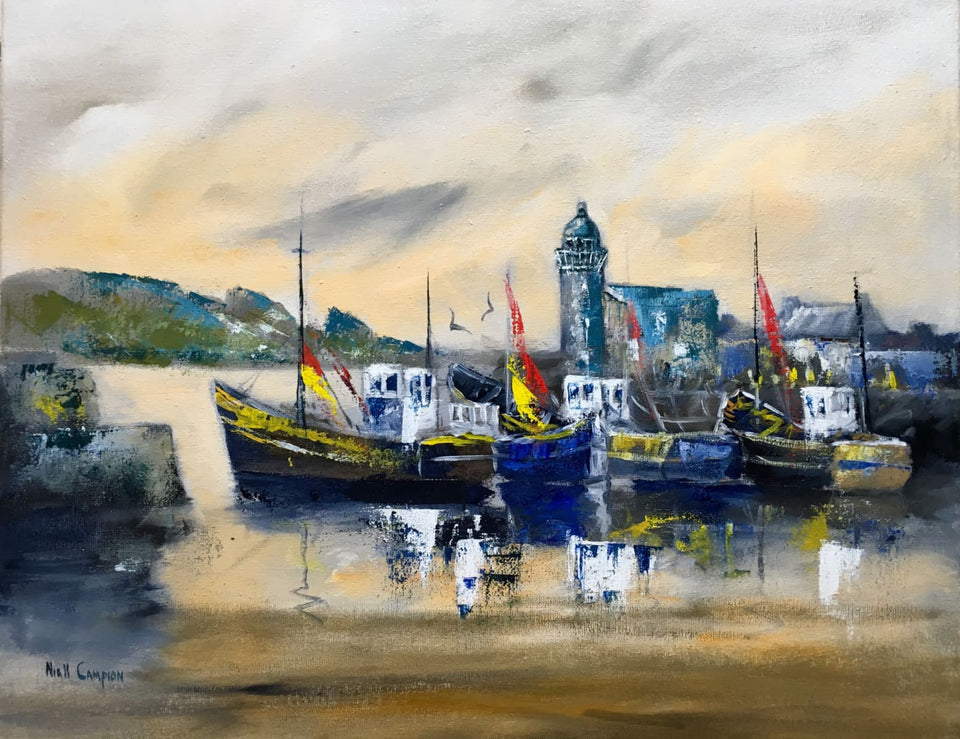 Howth Harbour Co.dublin Original Artwork