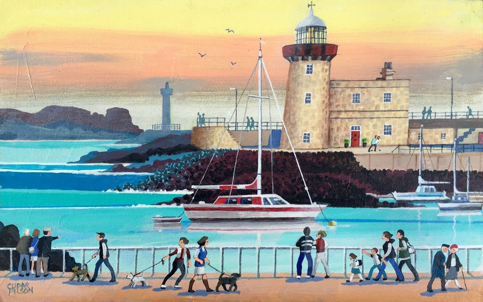 Howth Lighthouse Co.dublin Original Artwork