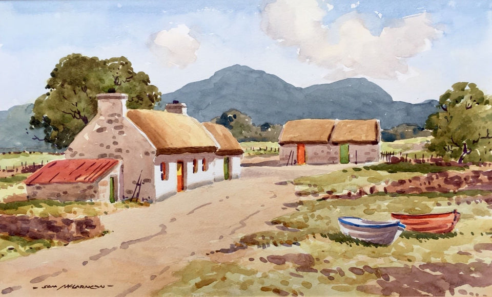 Irish Farmstead Original Artwork