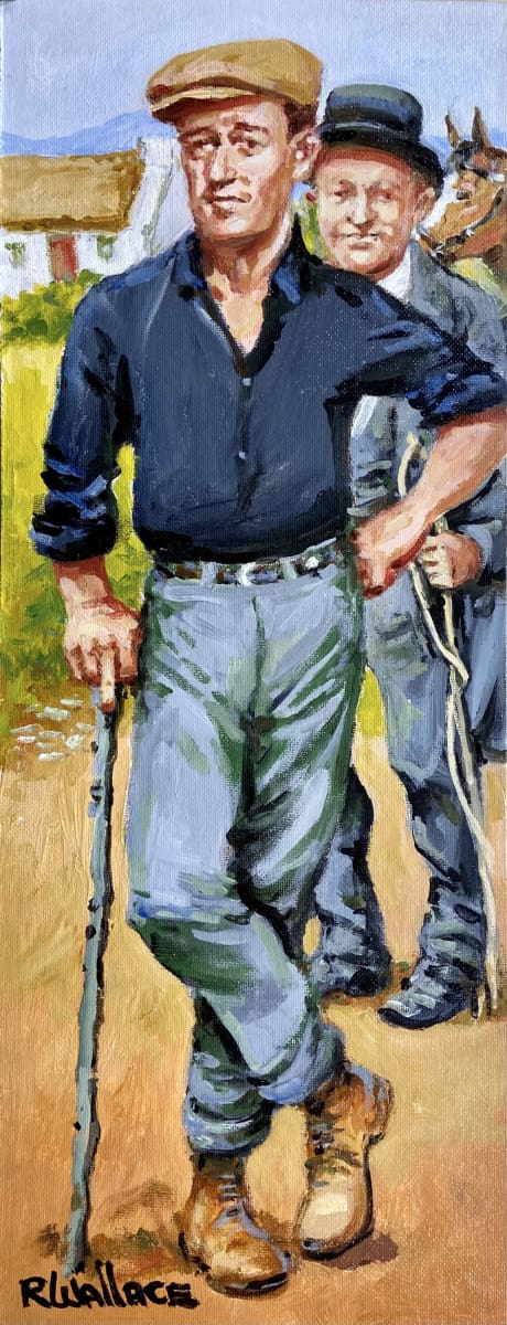 John Wayne & Barry Fitzgerald From The Quiet Man Original Artwork