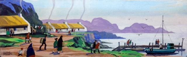 Leaving Ballintoy Co.antrim Original Artwork