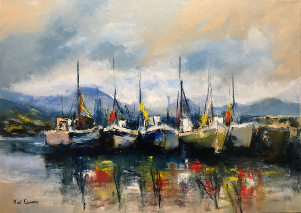 Letterfrack Harbour Connemara Original Artwork