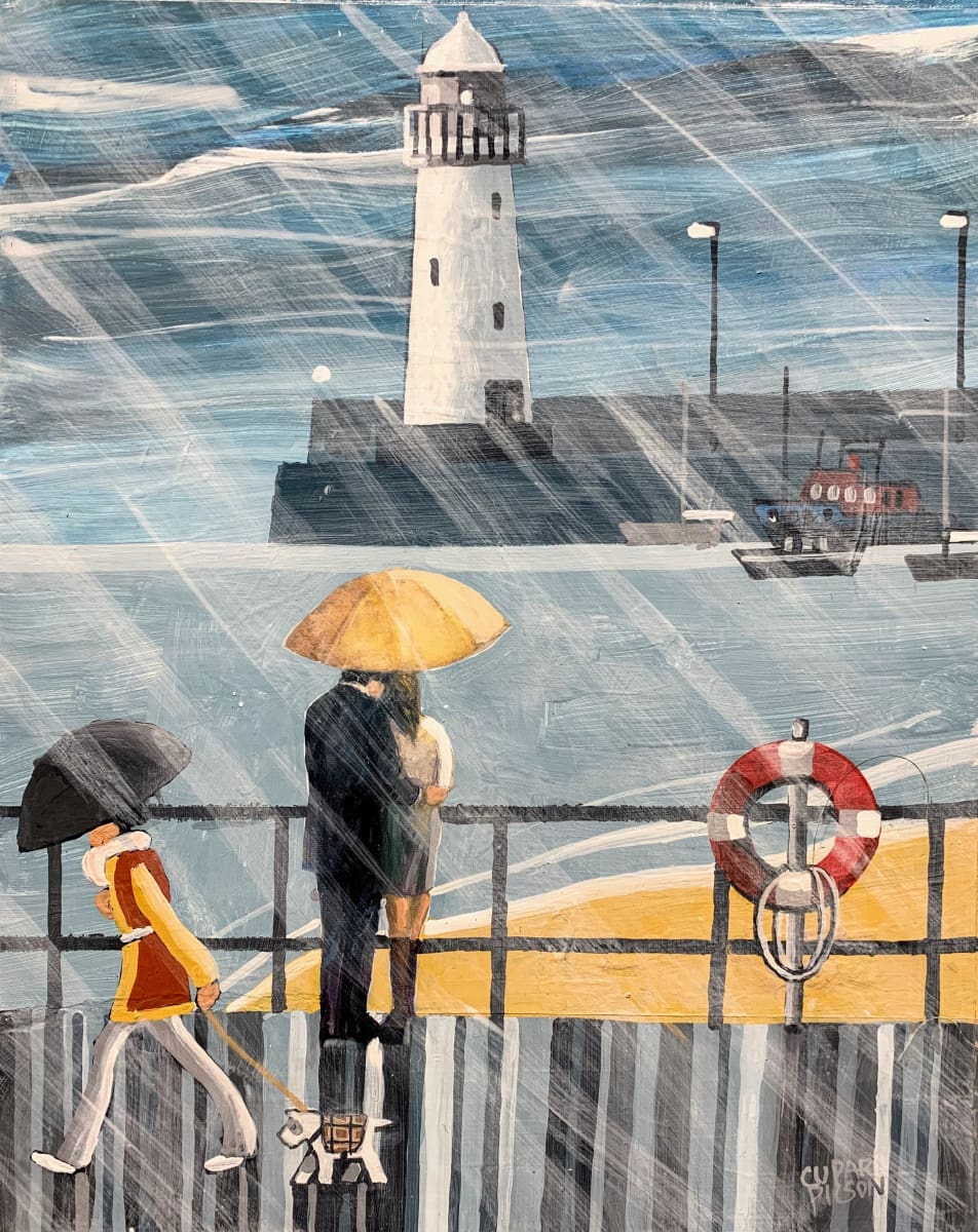Love In The Rain Donaghadee Co.down Original Artwork