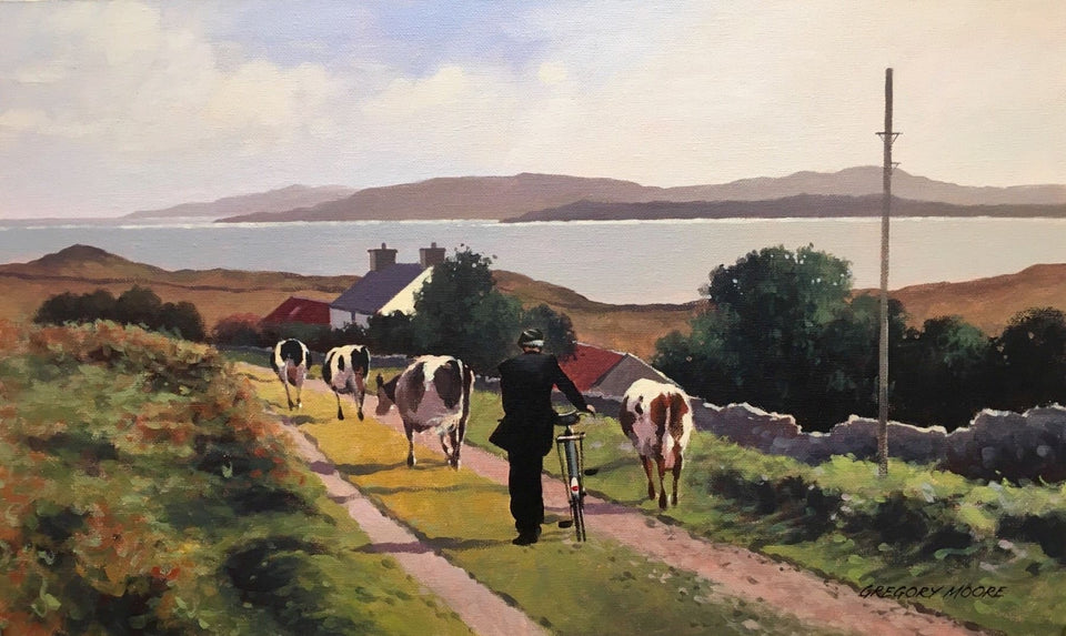 Milking Time By The Loughshore Original Artwork