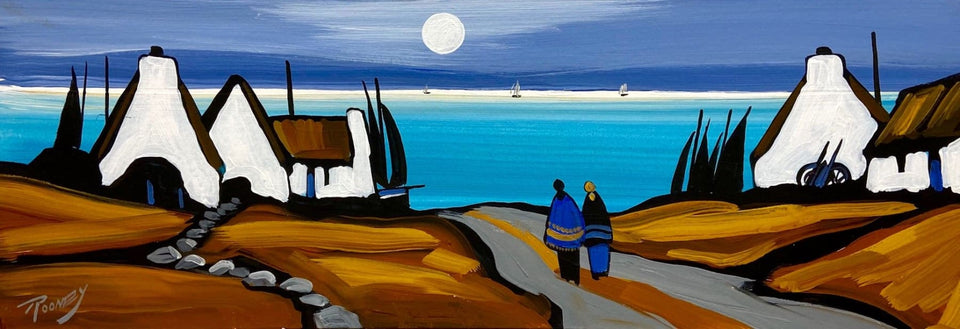 Moonlit Conversation Original Artwork