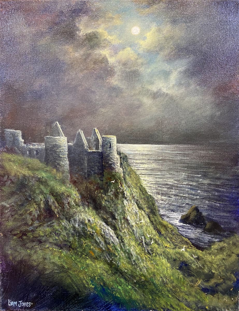 Moonlit Dunluce Castle Portrush Co.antrim Original Artwork