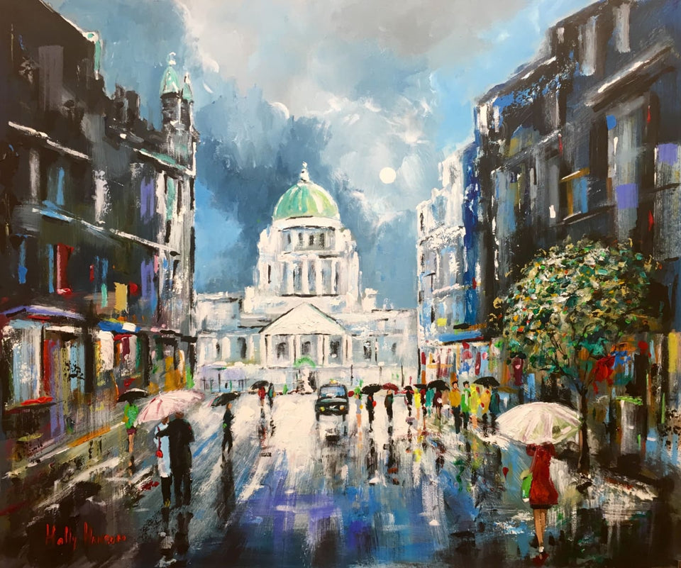 Moonlit Night Donegall Place Belfast Original Artwork