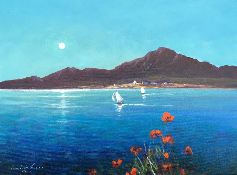 Moonlit Poppies Near The Mournes Co.down Original Artwork