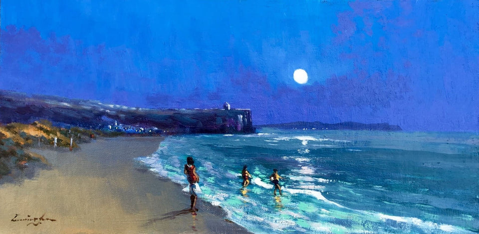 Moonlit Portstewart Strand Original Artwork