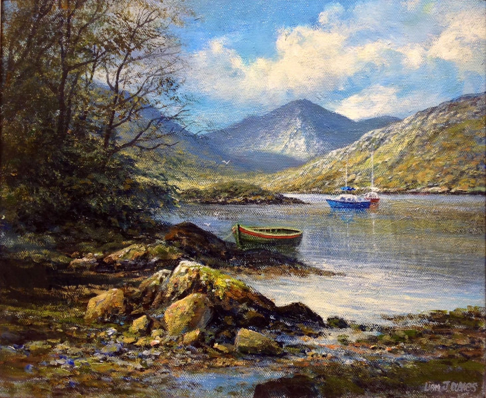 Moored Boats Glengariffe Co.cork Original Artwork
