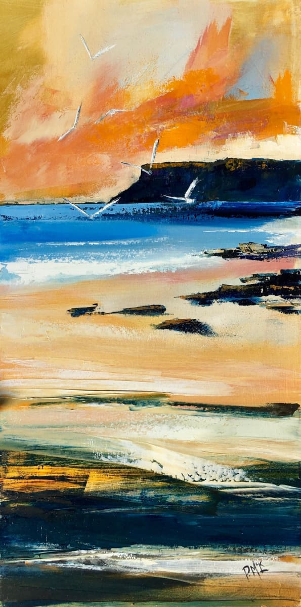 Morning Sunrise Ballycastle Original Artwork