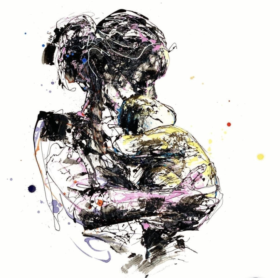 Mother And Child Signed Print