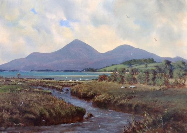 Mournes From Dundrum Co.down Original Artwork