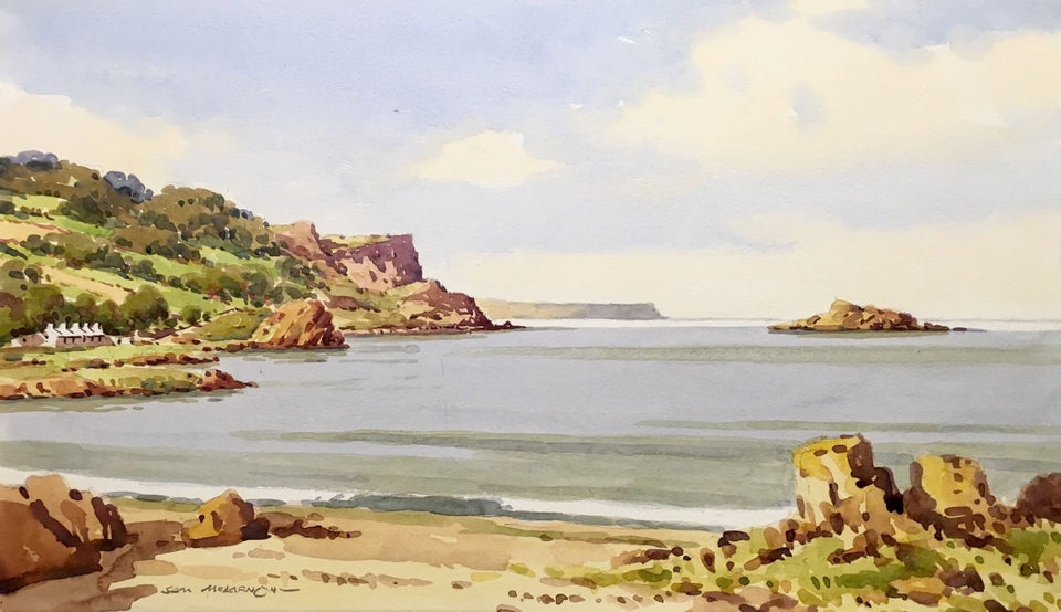 Irish Art - Murlough Bay, Co.Antrim, Northern Ireland by Irish Artist Sam McLarnon
