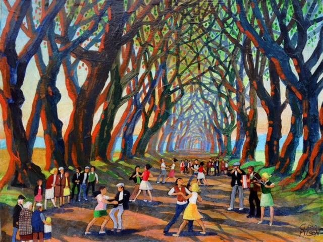 Music At The Dark Hedges Co.antrim Original Artwork