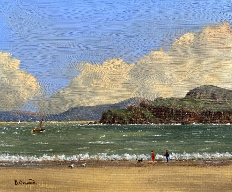 On The Beach At Marble Hill Co.donegal. Original Artwork