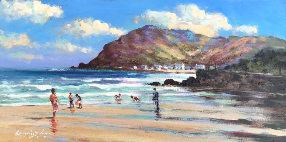 On The Beach Near Ballygally Head Co.antrim Original Artwork