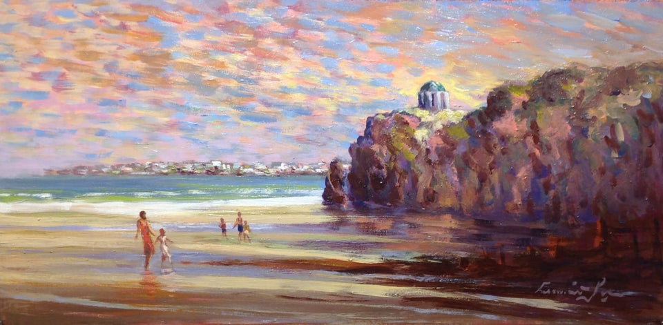 On The Beach Near Mussenden Temple Downhill. Original Artwork