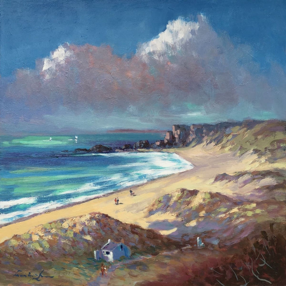 On The Beach White Park Bay Co.antrim Original Artwork