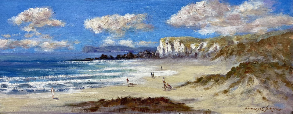 On The Beach White Rocks Portrush Co.antrim Original Artwork