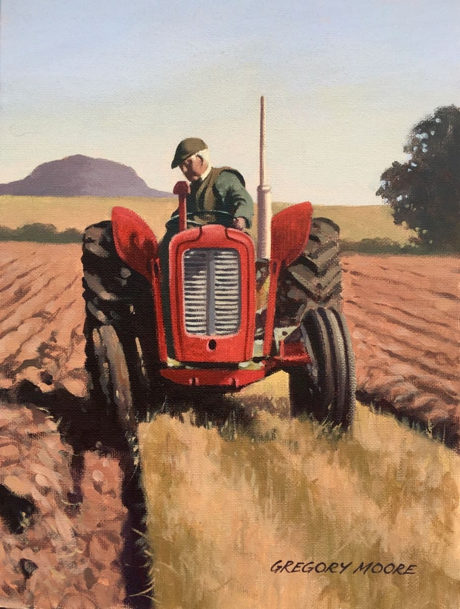 Ploughing Near Slemish Original Artwork