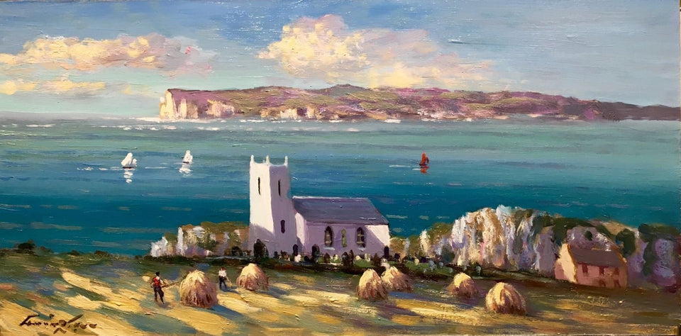 Rathlin Island From Ballintoy Co.antrim Original Artwork
